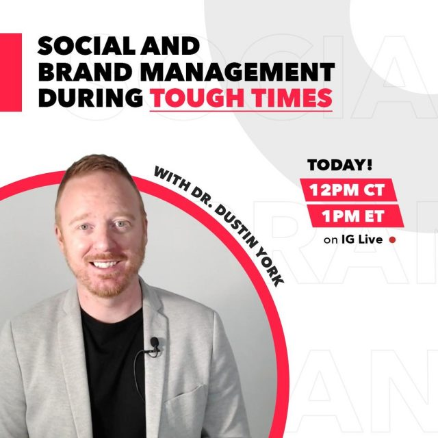 It's World Social Media Day! Tune into our Instagram Live today at 12PM CT/1PM ET. Our own Associate Professor of Communication @drdyork will be discussing how emotional intelligence and cultural awareness impacts brand communications on social media during difficult times.