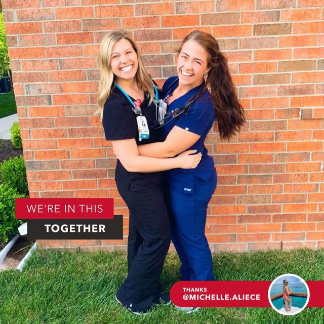 Achieving your goal is an awesome feeling. But doing it with a #BestFriend is the icing on top. 👯♀️ Congrats to @michelle.aliece and Charlie on getting to the next step in their nursing education with Maryville! We're excited to have such brave, aspirational people as part of our nursing program. 💪️🩺    For the soon-to-be NPs out there, taking the back-to-school journey together is just what the doctor ordered. (See what we did there?) If you've got a study buddy, give them a shout-out and let them know you appreciate them!