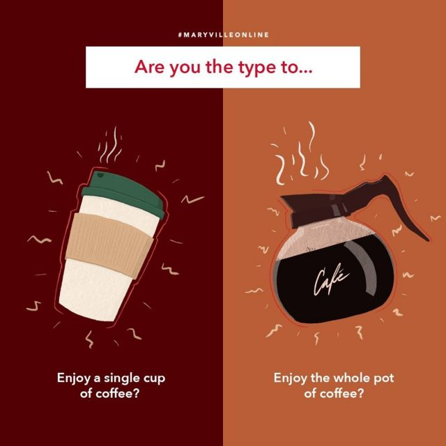 ☕GIVEAWAY☕ There are two types of people. Those who enjoy a single cup of coffee while studying and those who drink the entire pot. Tell us which one you are for the chance to win an UberEats gift card.   #maryvilleonline #maryvilleuniversity #maryvilleu #studybreak #studentlife #studymood #studysession #studyingpaysoff #studying #studyingtips #coffee #coffeetime #butfirstcoffee #coffeelover #coffeelovers #coffeeloversunite #coffeevibes #coffeedaily #coffeecoffeecoffee #coffee_ig