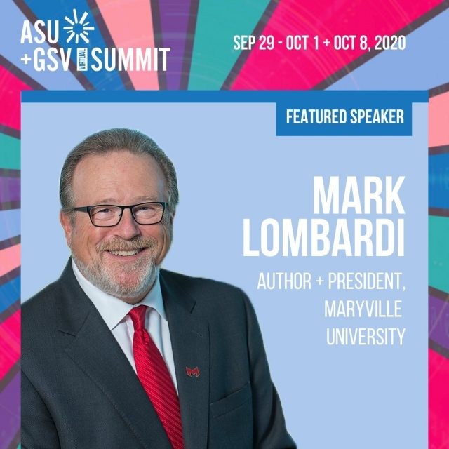 Dr. Lombardi will be hitting the @asugsvsummit stage today at 3 p.m. CT with our Dean of Adult and Online Education and Maryville's Chief Corporate Partnership Acquisitions.   Listen as they share the story of becoming the #2 fastest-growing private university and an innovative leader in higher education. Register for the free summit to watch live. Link in bio.   #maryvilleonline #asugsvisummit #innovation #highereducation #college #leadership #stem