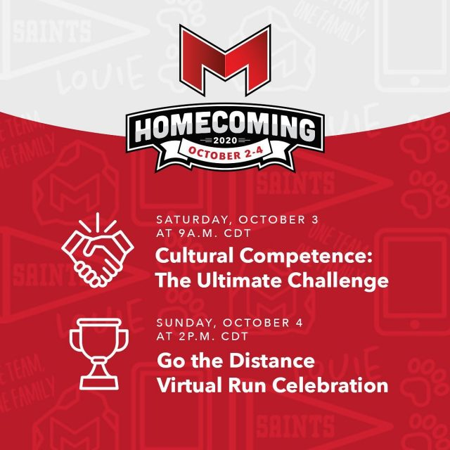"""Are you excited for homecoming weekend? We are! We have a lot of great virtual events prepared for you. Check out our """"Cultural Competence"""" event on the current racial climate and our """"Go the Distance Virtual Run"""" awards celebration — emceed by six-time Olympic medalist Jackie Joyner Kersee.     Tap the link in our bio to take a look at the full lineup, and register for your favorites so you can join the fun. #MaryvilleHomecoming20    #maryvilleonline #maryvilleuniversity #maryvilleu #homecoming #homecomingweek #homecomingweekend #homecoming2020 #virtualevent #virtualevents #culturalcompetence #culturalhumility #multiculturalism #culturaldiversity #gothedistance #awardsceremony #virtualrun #virtualrunning #jackiejoynerkersee #stl #homecoming #sociology #socialservices #exercisescience"""