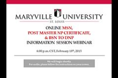 Maryville Online Nurse Practitioner Programs Information Session