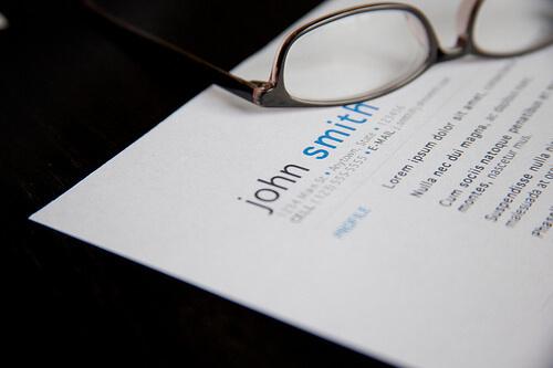 A resume.
